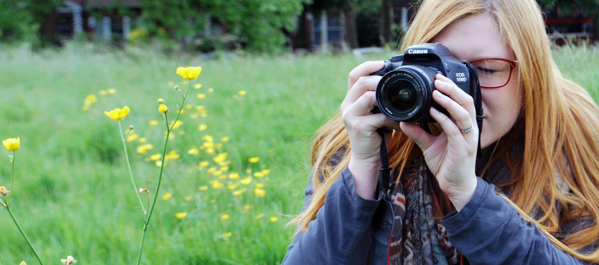 Lorna Capturing flowers in her local park