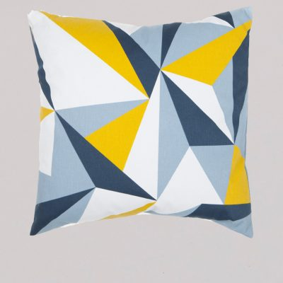 Lorna Syson Bradbury Elderberry cushion, geometric mid century modern design