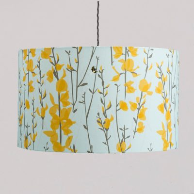 Broom and Bee Sky Lampshade