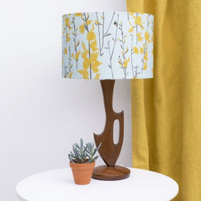 broom and bee sky lampshade by lorna syson