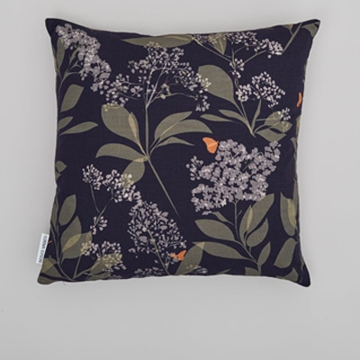 buds and butterflies cushion designed by lorna syson