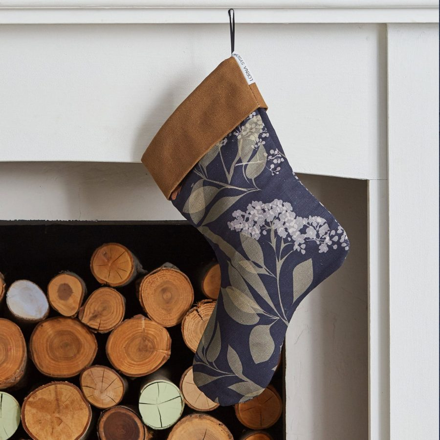 Buds and Butterflies Christmas stocking by Lorna Syson