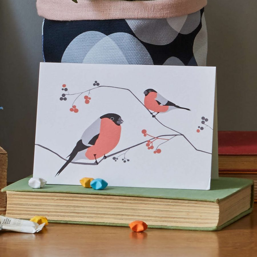 Lorna Syson Bullfinch Greeting Card
