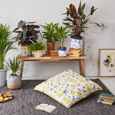 chrysanthemum floor cushion by lorna syson