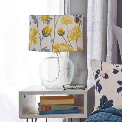 Chrysanthemum lampshade by lorna syson