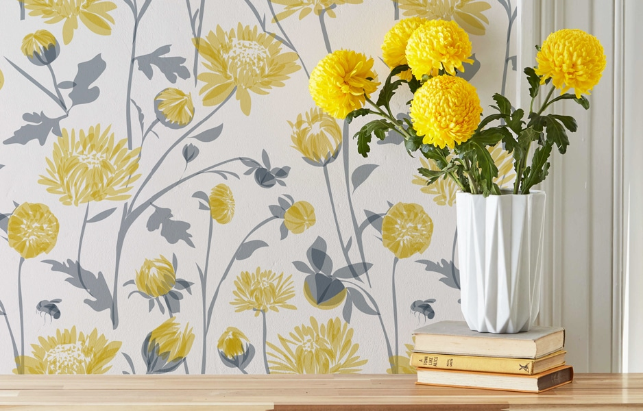 Chrysanthemum wallpaper by Lorna Syson