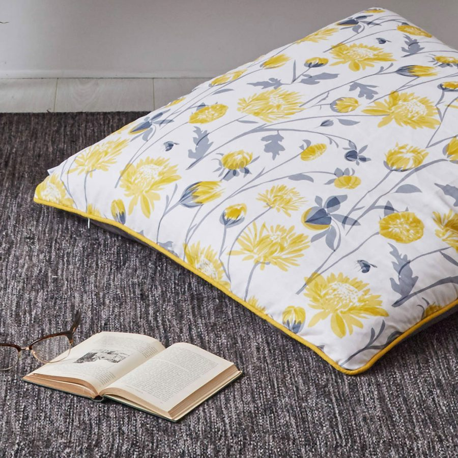 chrysanthemum floor cushion