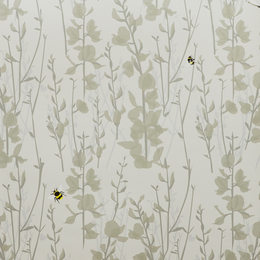 Broom and Bee dusk wallpaper and fabric