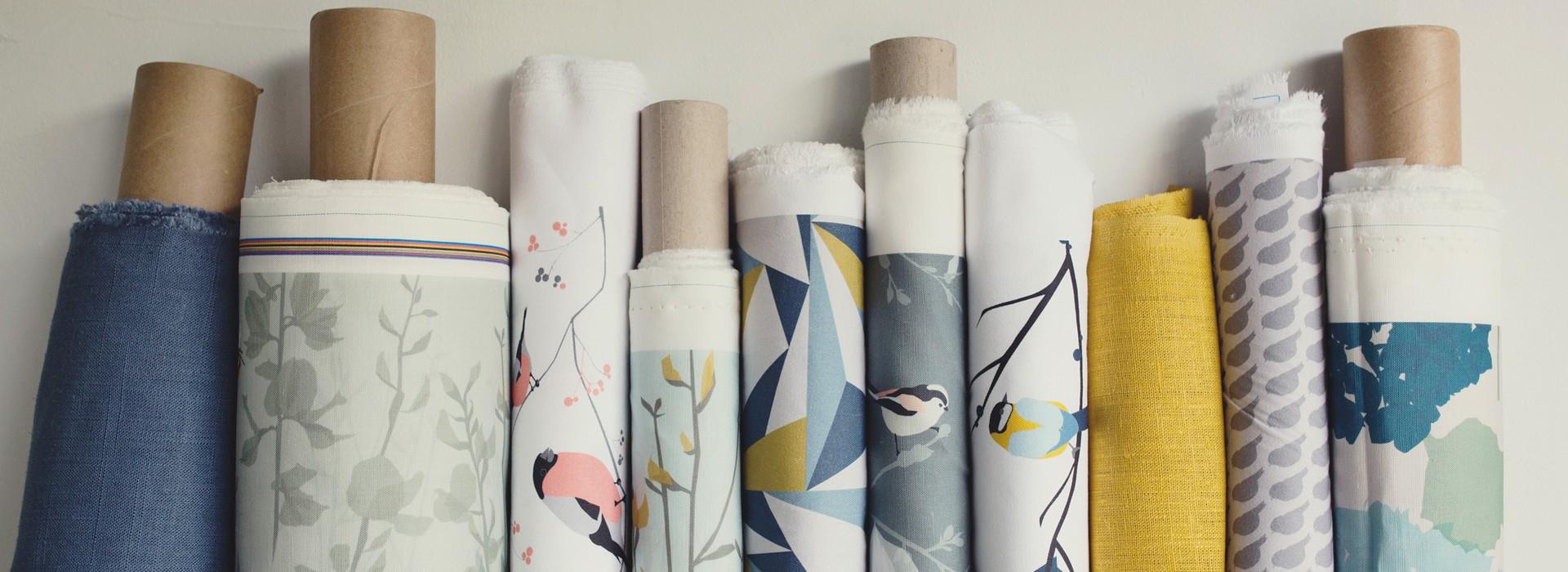 Lorna Syson fabric rolls