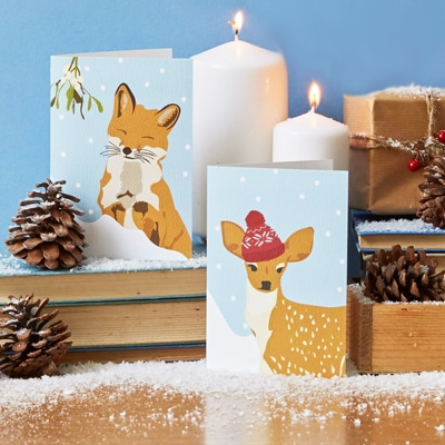 forest animals christmas card designed by lorna syson
