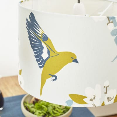 greenfinch lampshade lorna syson