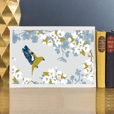 Greenfinch signed print