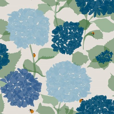 Hydrangea Wallpaper and Fabric