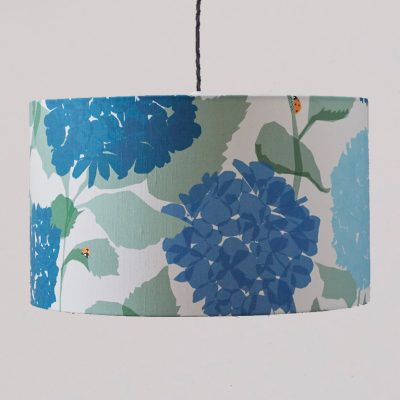 hydrangea lampshade