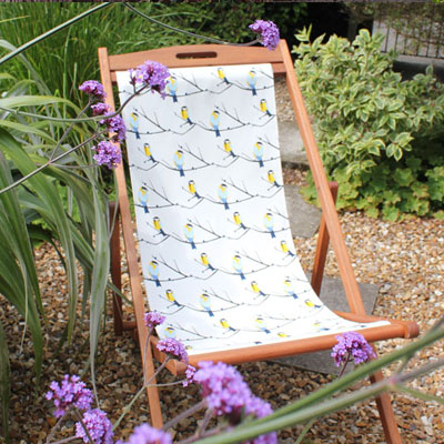 juneberry and bird fabric deckchair by lorna syson john lewis