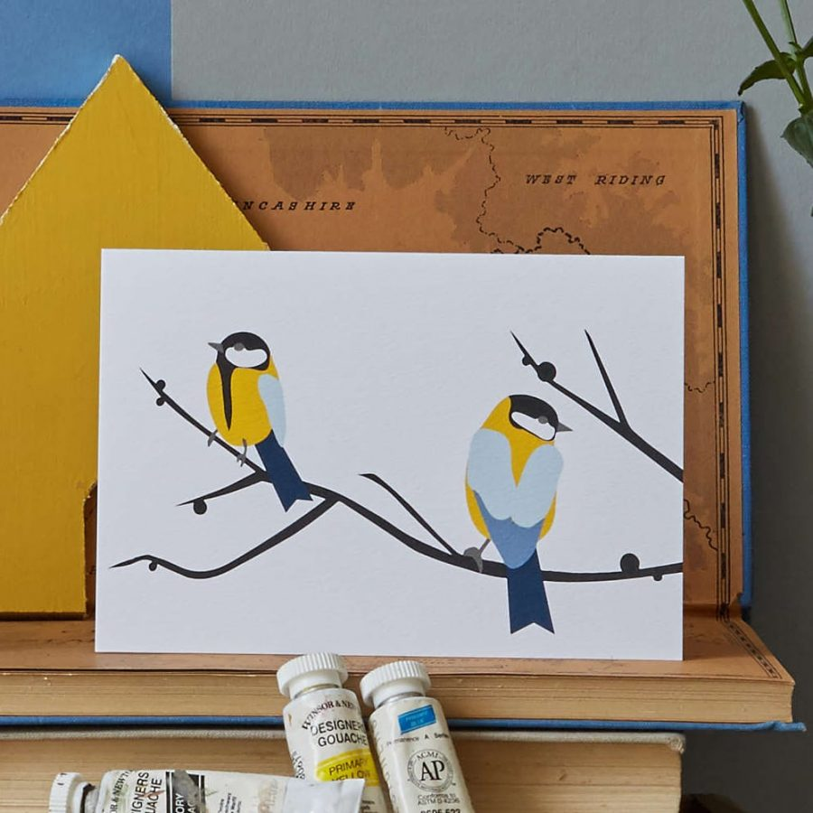 Lorna Syson Juneberry and Bird card