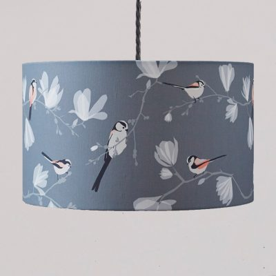 Long tailed tit lampshade