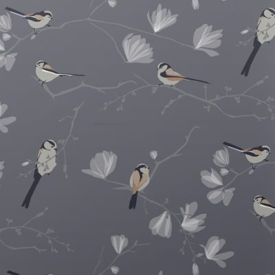 Long Tailed Tit Wallpaper and Fabric