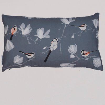 long tailed tit cushion