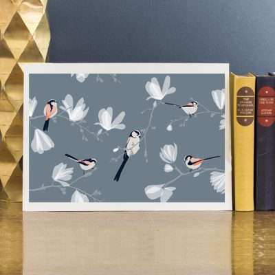Long Tailed Tit signed print