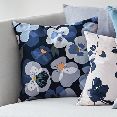pansy cushion lorna syson garden collection