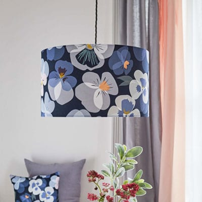 pansy lampshade by lorna syson