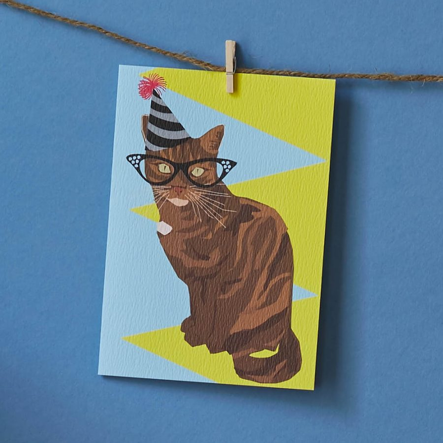 cat card by lorna syson