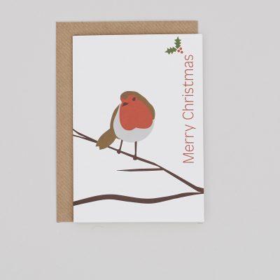 Single Robin Christmas Card