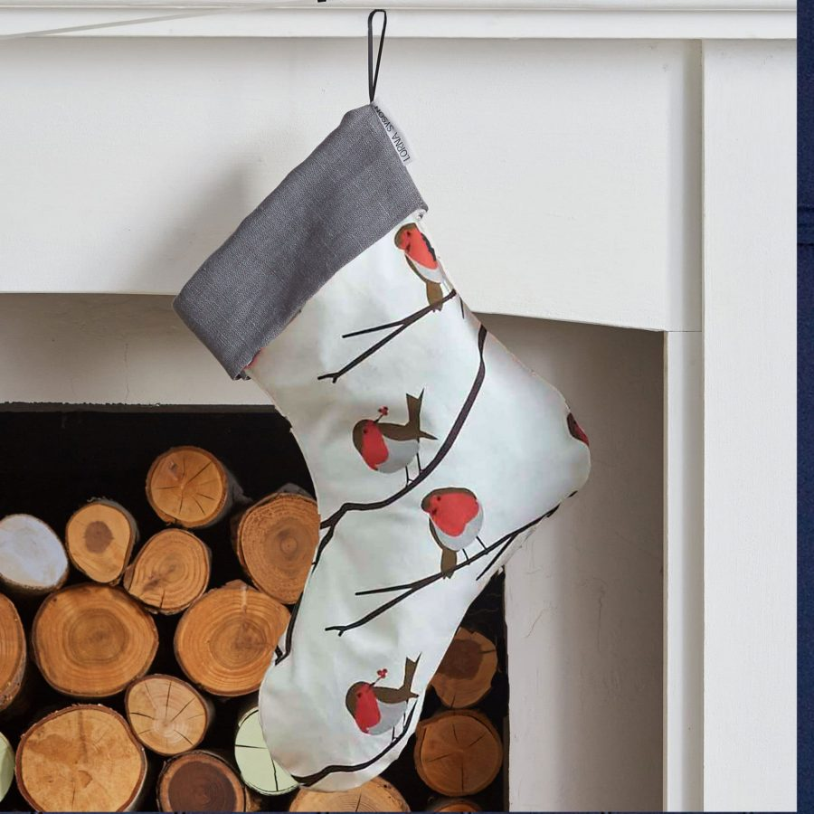lorna syson robin christmas stocking