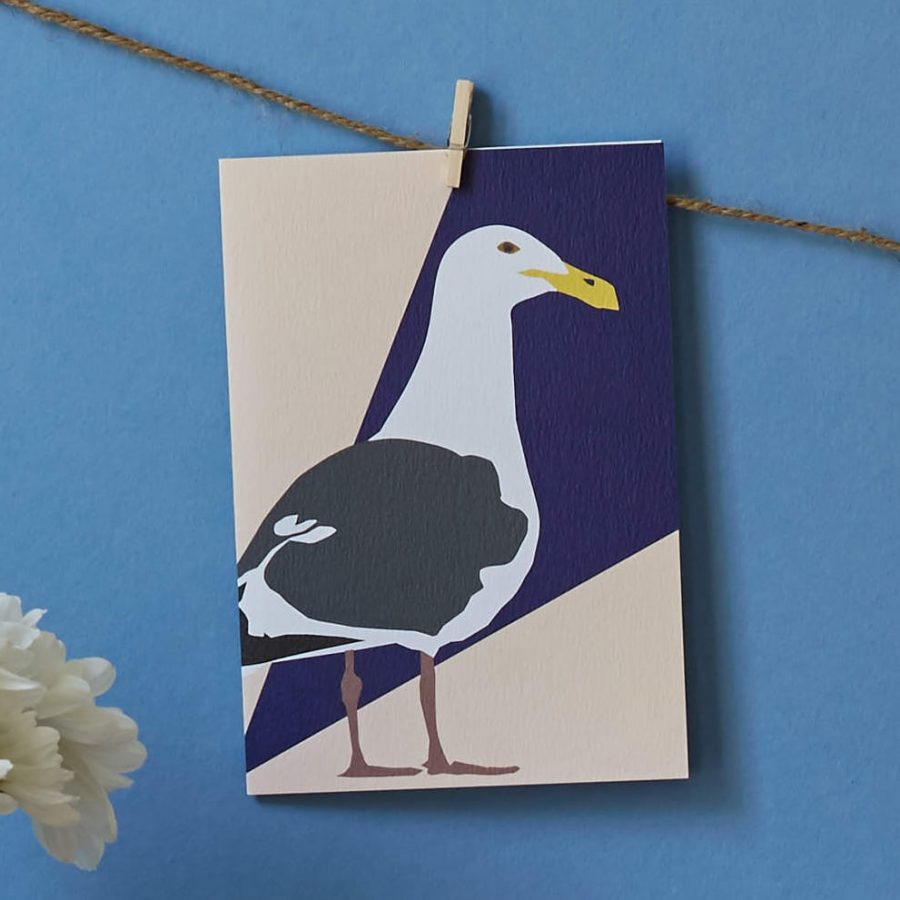 seagull card by lorna syson