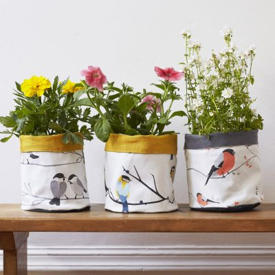 songbird design plant and storage pot - gift under £20