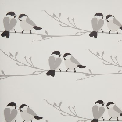 Willow Tit Fabric and wallpaper
