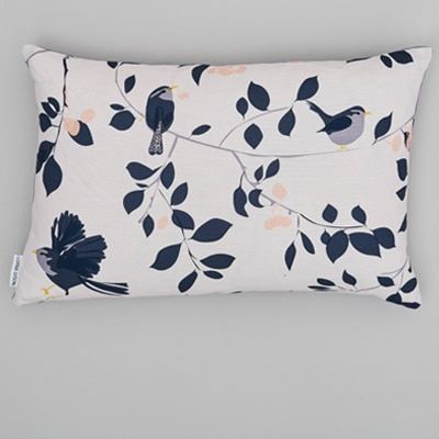 wren and cherry cushion designed by Lorna Syson