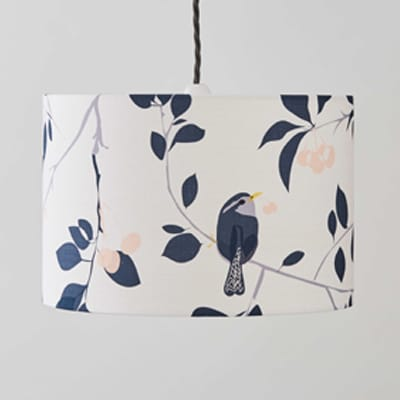 wren & cherry lampshade designed by lorna syson