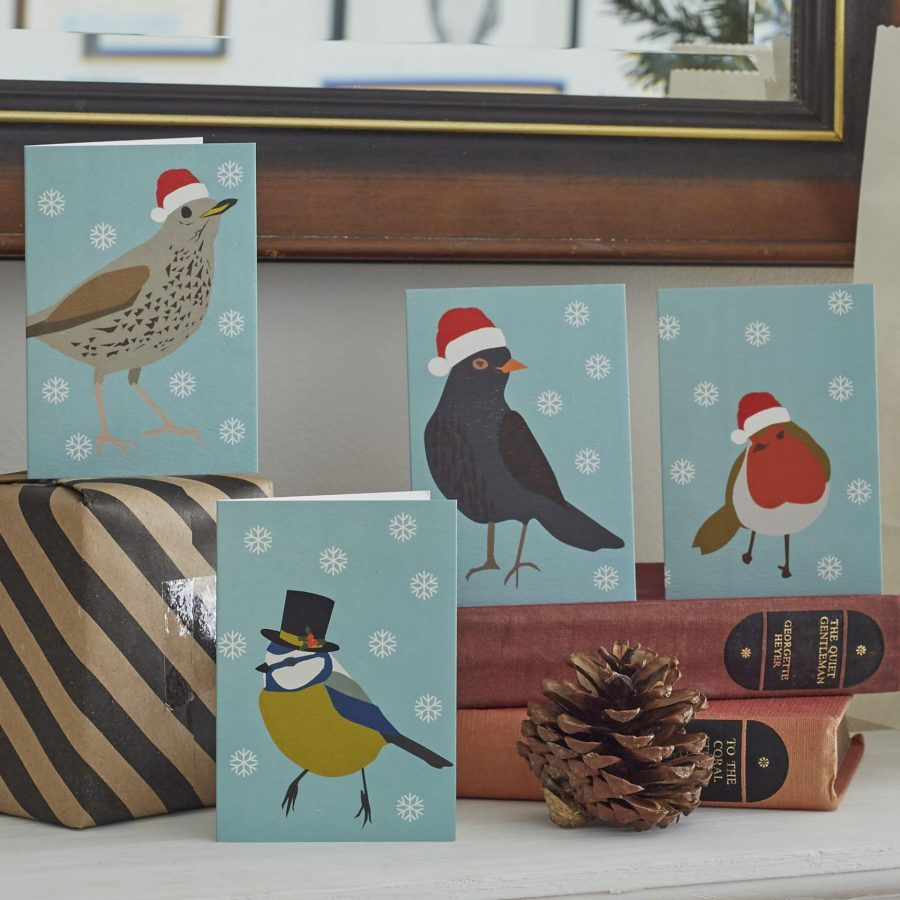 Lorna Syson songbird Christmas card pack