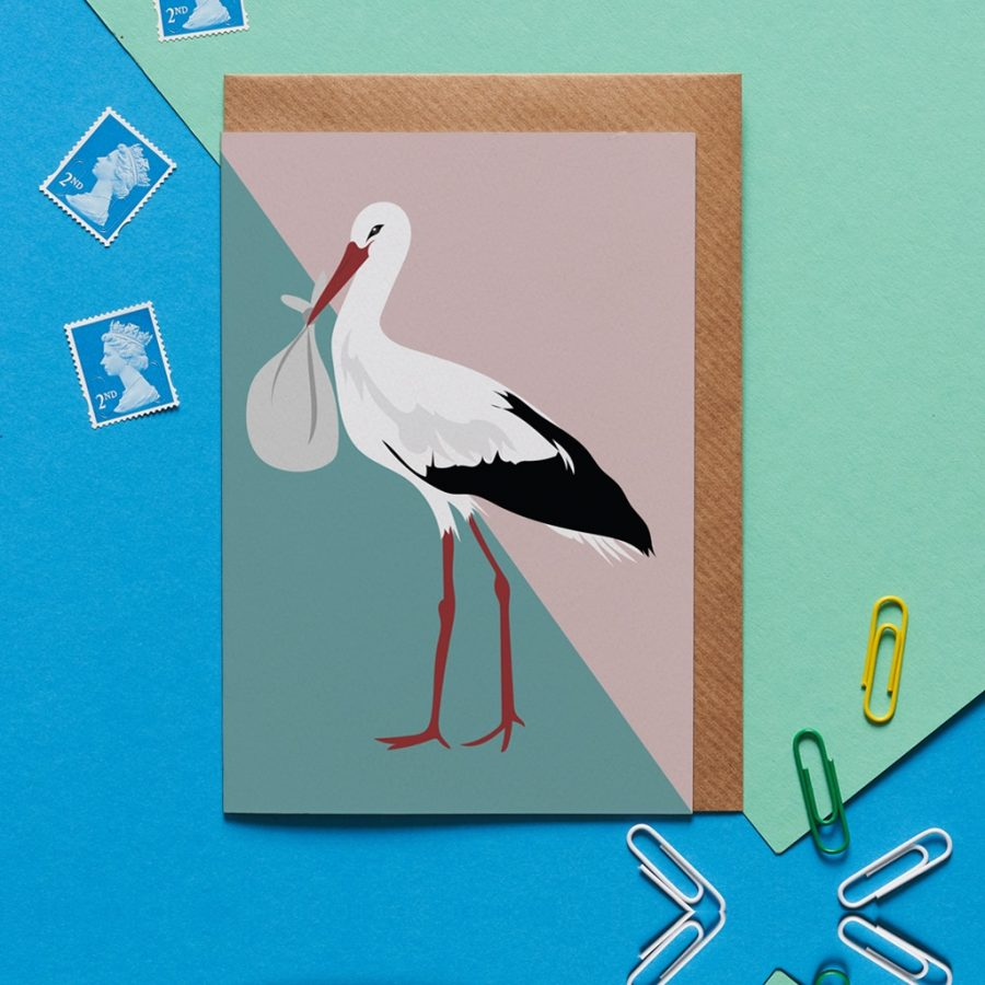 sally the stalk greeting card designed by Lorna Syson