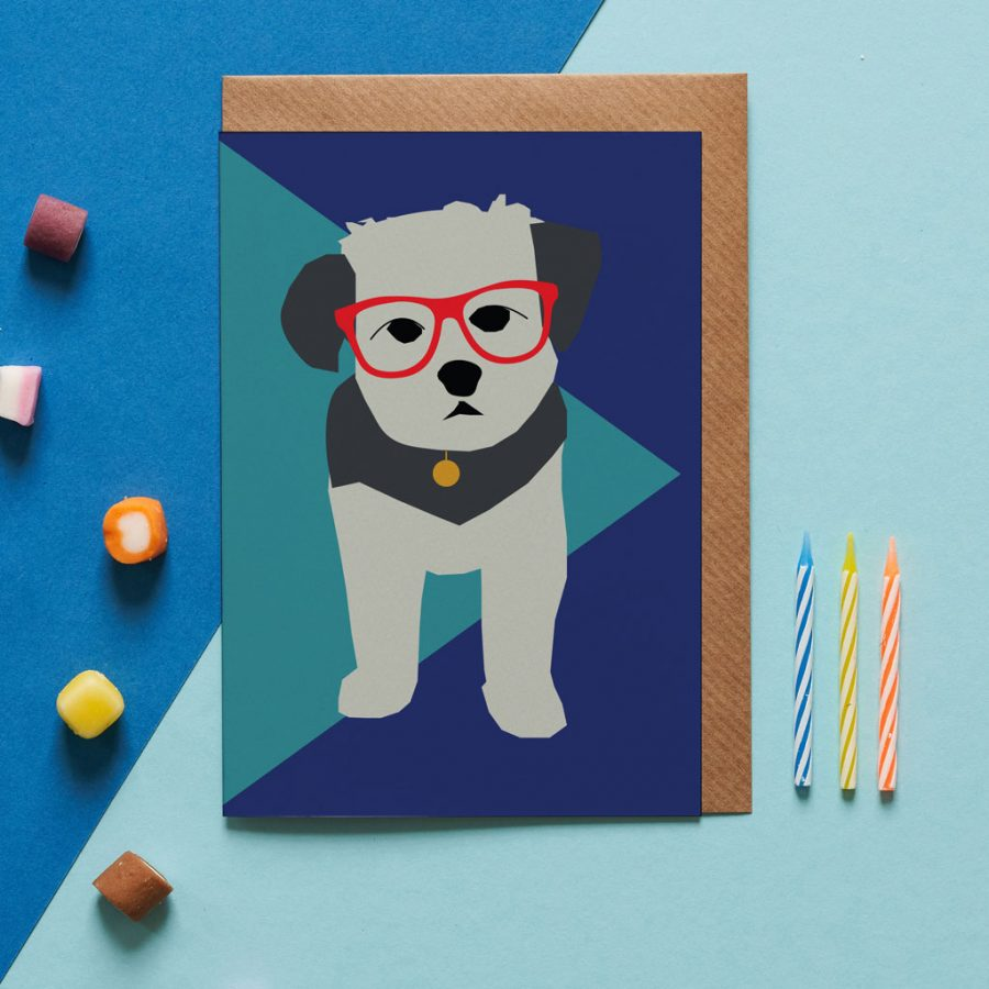 Jenkins the havanese greeting card designed by Lorna Syson