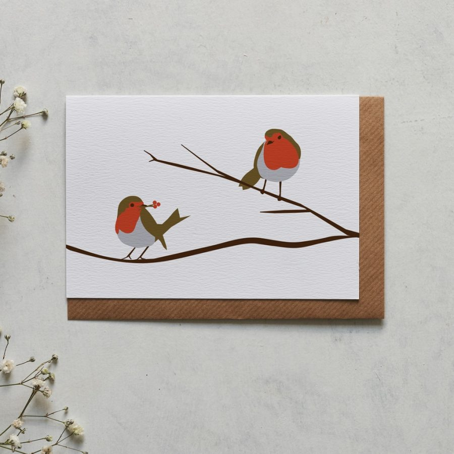 Robin greeting card designed by Lorna Syson