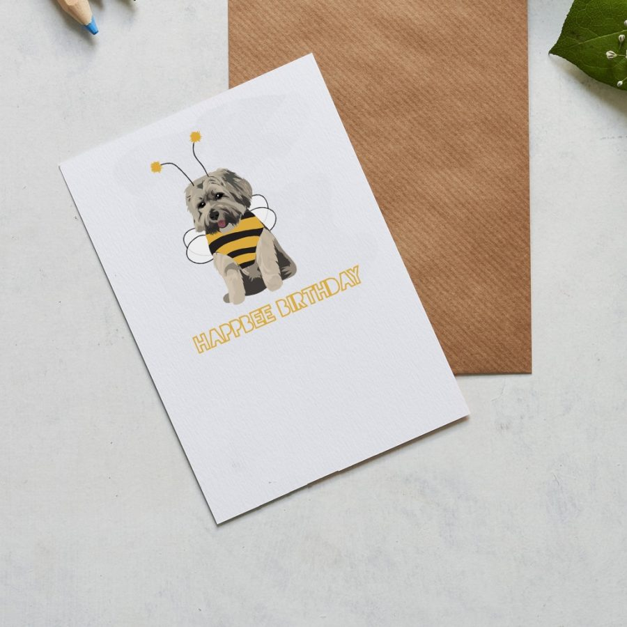 Greetings Card Luxury Designer Personalised Message Sustainable Environmentally Friendly FSC Paper Plastic Free - beehappy