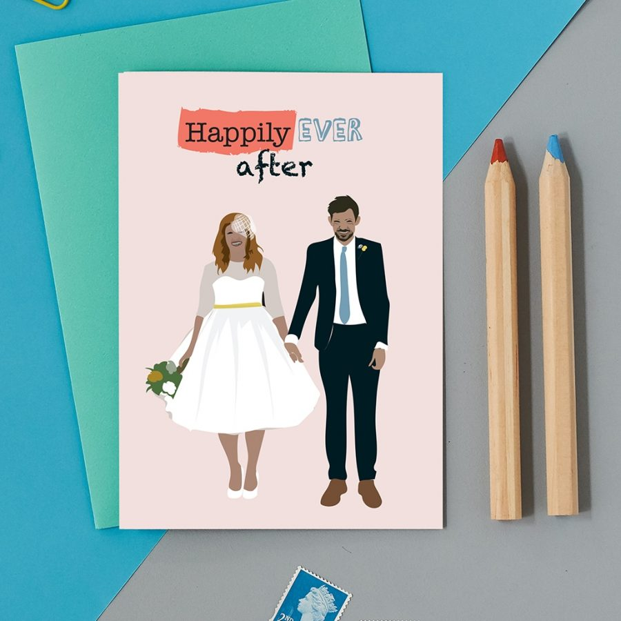 Greetings Card Luxury Designer Personalised Message Sustainable Environmentally Friendly FSC Paper Plastic Free - happily ever after