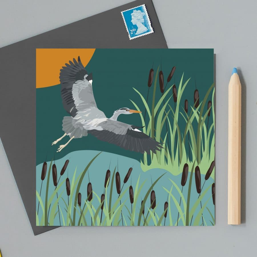 Greetings Card Luxury Designer Personalised Message Sustainable Environmentally Friendly FSC Paper Plastic Free RSPB bird - hero