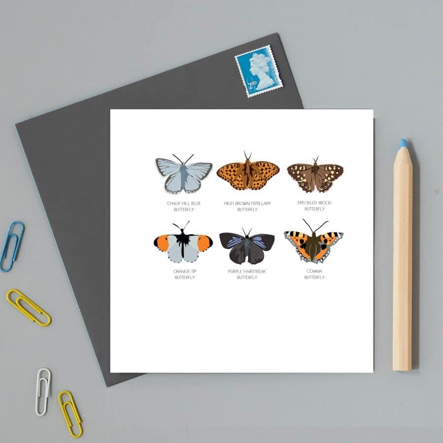 British butterflies card