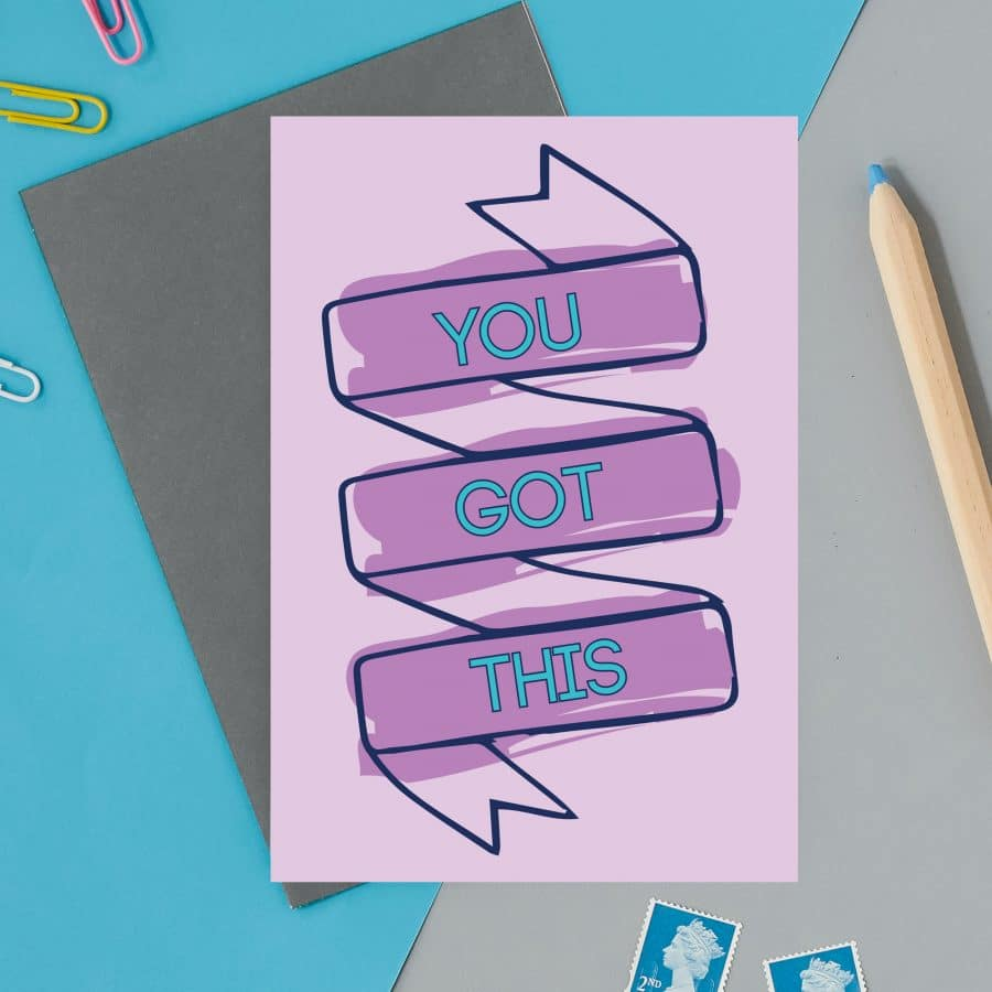 british card designer, illustration, designer card, british card, printed in the UK, positive messaging, IVF, trying to conceive, miscarriage, infertility you got this
