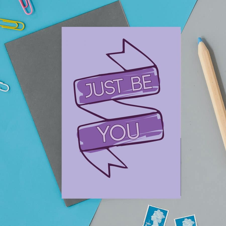 british card designer, illustration, designer card, british card, printed in the UK, positive messaging, IVF, trying to conceive, miscarriage, infertility Just be you