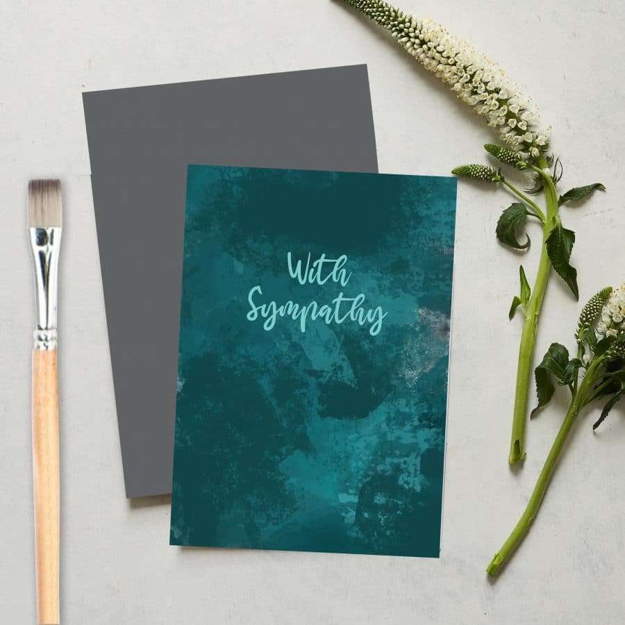 Greetings Card Luxury Designer Personalised Message Sustainable Environmentally Friendly FSC Paper Plastic Free love positive messaging - with sympathy card