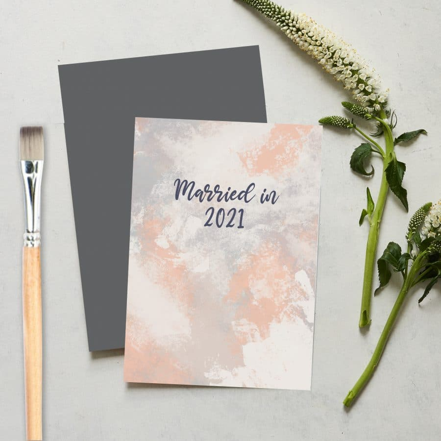 Greetings Card Luxury Designer Personalised Message Sustainable Environmentally Friendly FSC Paper Plastic Free love positive messaging - married in 2021