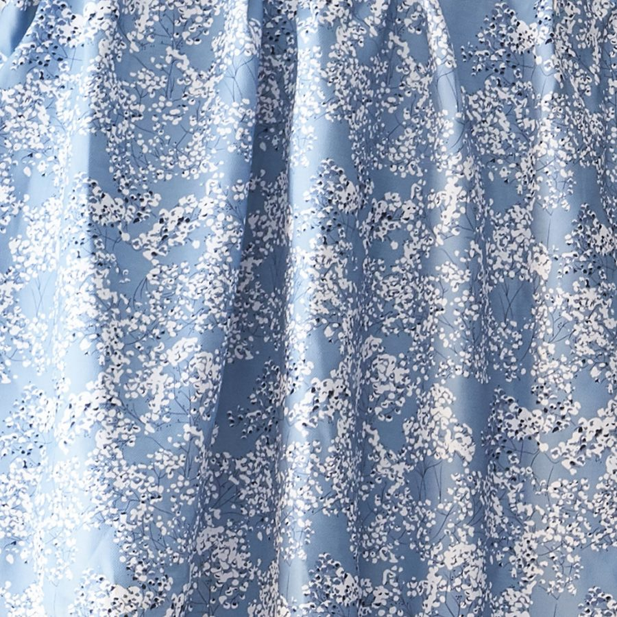 blue floral fabric - blue angels breath upholstery fabric - Lorna Syson