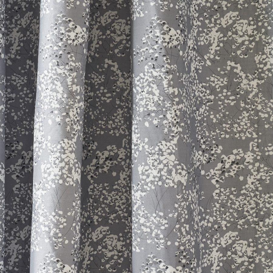 grey floral fabric - grey angels breath upholstery fabric - Lorna Syson