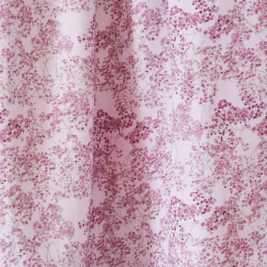 pink floral fabric - pink angels breath upholstery fabric - Lorna Syson
