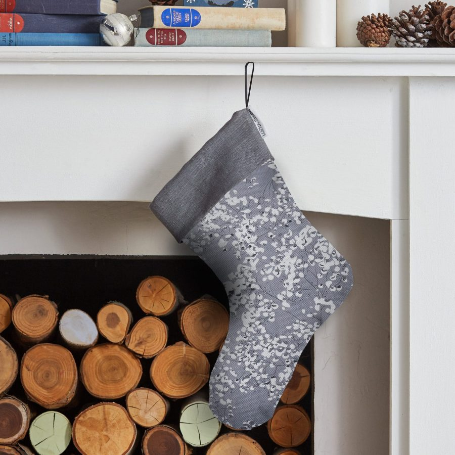 Grey Arla Christmas Stocking - Festive Gifting - Lorna Syson